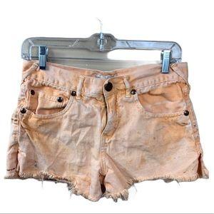 Free people jean shorts women's size 27